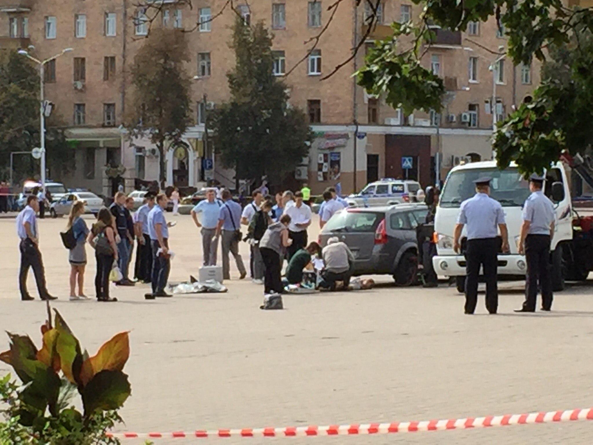 Мужчина привез труп наСоборную площадь иоткрыл огонь— ЧПвБелгороде